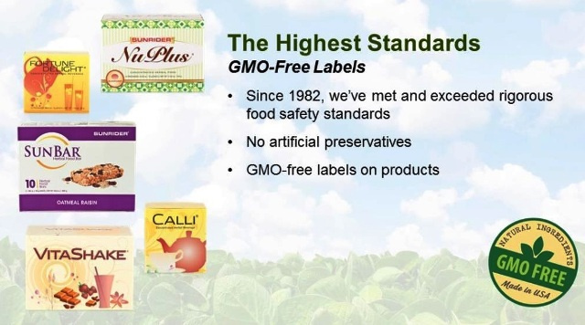 Sunrider Non-GMO Products
