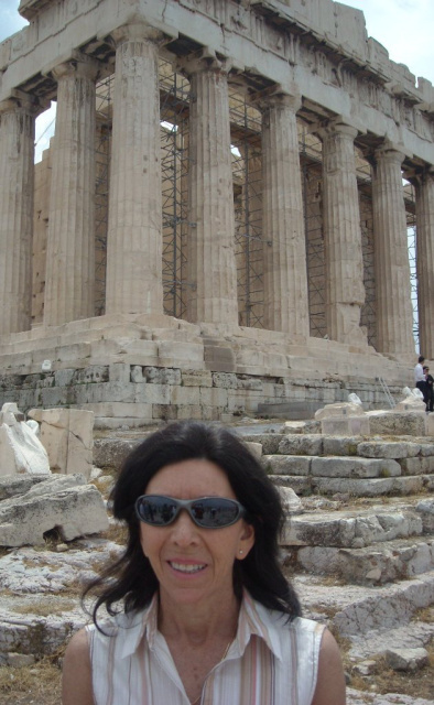 Jane Wakefield at the Acropolis