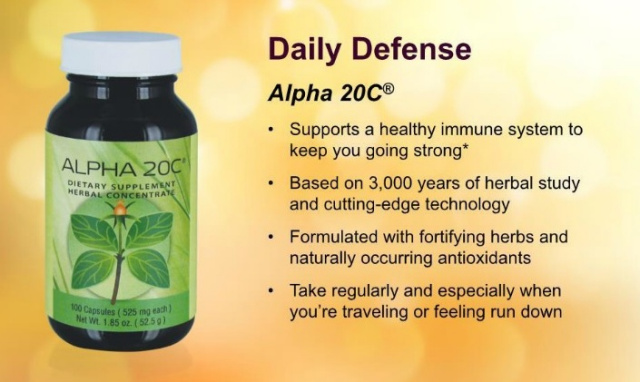 Alpha 20 C Benefits