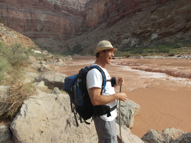 Author Cliff Smith at the Grand Canyon