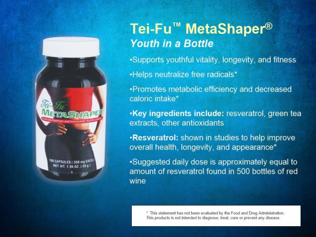 Tei-Fu MetaShaper With Resveratrol/100 Capsules/bottle