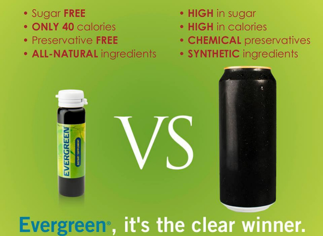 Evergreen vs. Energy Drinks